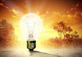 Light bulb and nature — Stock Photo