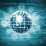 Digital globe bild — Stockfoto
