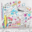 Business colorful sketch — Stock Photo