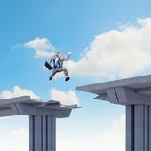 Ready to take a risk — Stock Photo