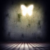Background image with butterfly illustration — Stock Photo