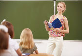 Teacher at school — Foto Stock