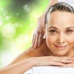 Girl at spa massage — Stock Photo #30240469