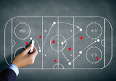 Hockey strategy plan — Stock Photo