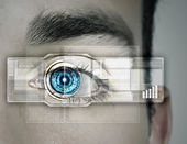Identification of eye — Stock Photo
