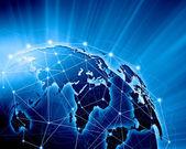 Blue image of globe — Stock Photo