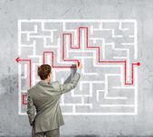 商人迷宫问题解决 — 图库照片