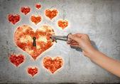 Key to heart — Stock Photo