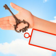 Key with label — Stock Photo