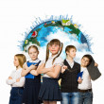 Skupina dětí — Stock fotografie