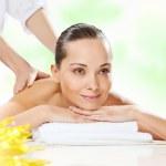 Постер, плакат: Girl at spa massage