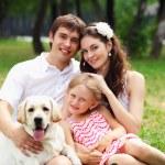 Happy family having fun outdoors — Stock Photo #30621497