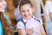 かわいい女の子と教師 — ストック写真
