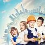 grupp av barn — Stockfoto