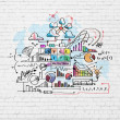 Business colorful sketch — Stock Photo #30806183