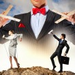 Businessman puppeteer — Foto de Stock