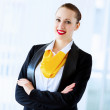 attractive businesswoman — Stock Photo