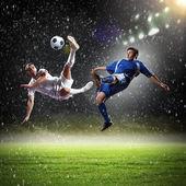Two football player — Foto de Stock