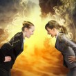 Two businesswomen arguing — Stock Photo