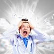 Crazy doctor — Stock Photo #30972317