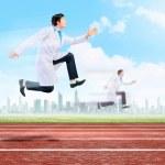 Running doctor — Stock Photo #30972519