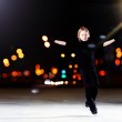Young boy figure skating — Stock Photo #30979509