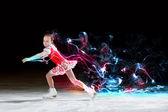 Little girl figure skating — Stock Photo