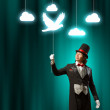 Magician in hat — Stock Photo #31086289