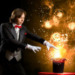 Magician with hat — Foto de Stock