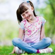 Little girl in park — Stock Photo