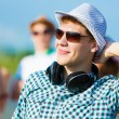 Young man with headphones — Stock Photo #31098185