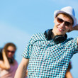 Young man with headphones — Stock Photo #31098215