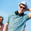 Young man with headphones — Stock Photo #31098227