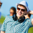 Stock Photo: Young man with headphones