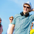 Young man with headphones — Stock Photo #31098255