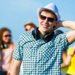 Young man with headphones — Stock Photo #31098331