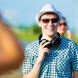 Young man with headphones — Stock Photo #31098855