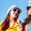 Two young girls — Stock Photo