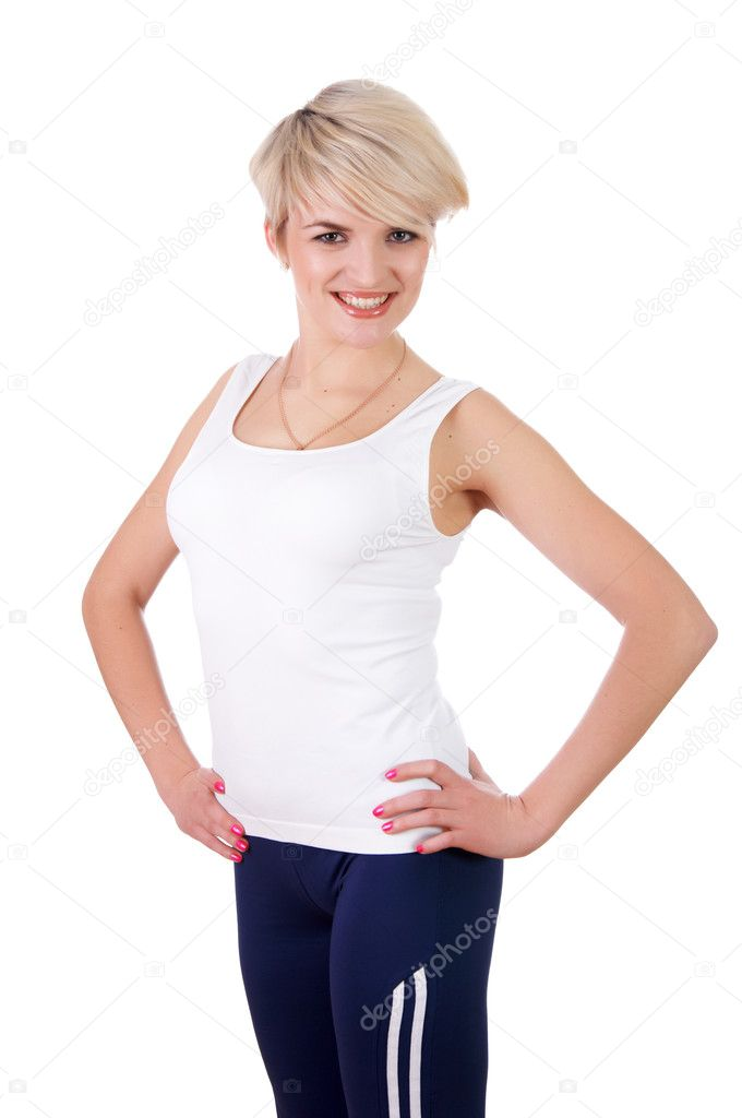A charming young girl in a white t shirt stock photo sergeynivens 3290105 - Charming teenage girls image ...