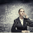 Stockfoto: Upset businesswoman