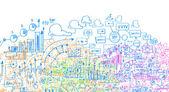 Business plan sketch — Stock Photo