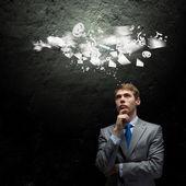 Thinking over an idea — Stock Photo
