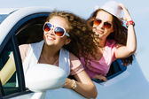Women in car — Stock Photo