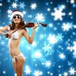 Santa flicka — Stockfoto