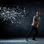 Man running away — Stock Photo #40689793