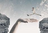 Overcoming difficulties — Stock Photo