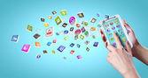 Tecnologías de los medios de comunicación — Foto de Stock