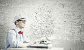 Young man writer — Stock Photo