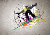 граффити изображение — Стоковое фото