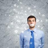 Sprakeloos zakenman — Stockfoto